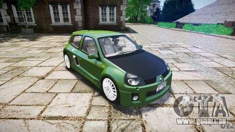 Renault Clio V6 pour GTA 4 est une vue de l'intérieur