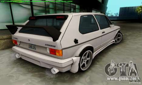 VolksWagen Golf LS pour GTA San Andreas laissé vue