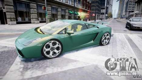 Lamborghini Gallardo pour GTA 4 est une gauche