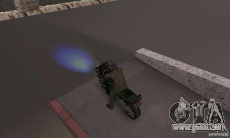 Blaue Scheinwerfer für GTA San Andreas zweiten Screenshot