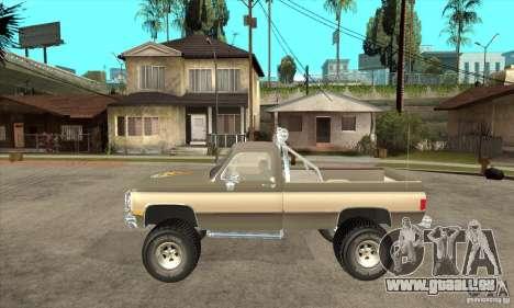 GMC Sierra Grande 1985 pour GTA San Andreas laissé vue