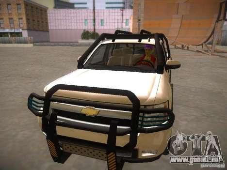 Chevrolet Silverado pour GTA San Andreas vue arrière