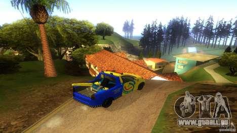 Toyota Avanza Towtruck pour GTA San Andreas sur la vue arrière gauche