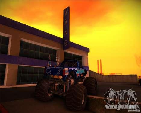 Monster Truck Blue Thunder pour GTA San Andreas vue de côté