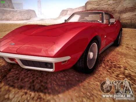 Chevrolet Corvette Stingray 1968 pour GTA San Andreas vue de droite