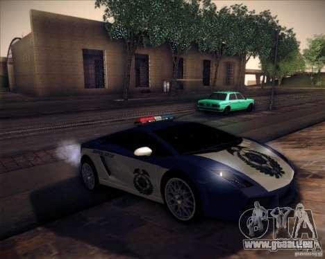 Lamborghini Gallardo LP560-4 Undercover Police pour GTA San Andreas vue de droite