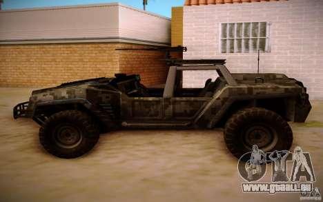 SOC-T from BO2 pour GTA San Andreas vue arrière