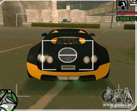 Bugatti Veyron Super Sport final für GTA San Andreas zurück linke Ansicht