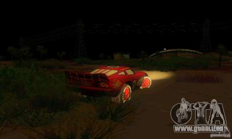 MCQUEEN from Cars pour GTA San Andreas vue arrière