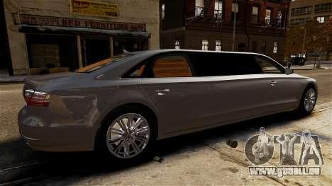 Audi A8 limousine für GTA 4 linke Ansicht