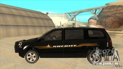 Dodge Caravan Sheriff 2008 pour GTA San Andreas laissé vue