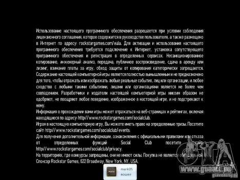 Fissure pour GTA 4 troisième écran