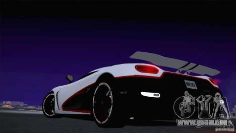 Koenigsegg Agera R 2012 pour GTA San Andreas vue intérieure