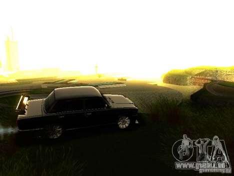 VAZ 2107 X-Style pour GTA San Andreas vue de dessus