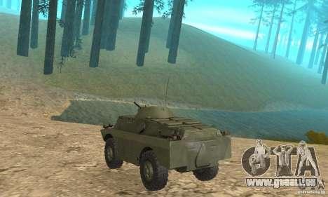 BRDM-2 Edition Standard pour GTA San Andreas vue de droite