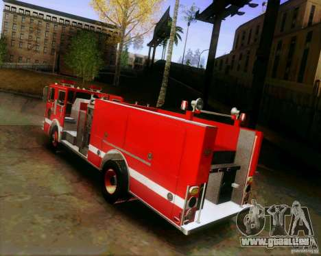 Pumper Firetruck Los Angeles Fire Dept für GTA San Andreas linke Ansicht