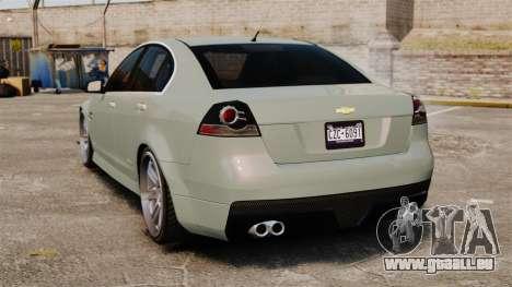 Chevrolet Lumina 2009 Mr. Bolleck Edition pour GTA 4 Vue arrière de la gauche