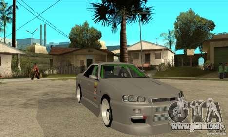Nissan Skyline Er34 Street Drift für GTA San Andreas Rückansicht