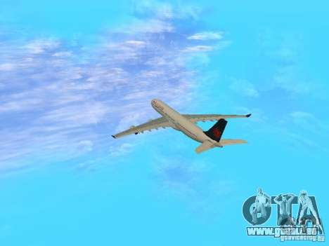 Airbus A340-300 Air Canada pour GTA San Andreas vue intérieure