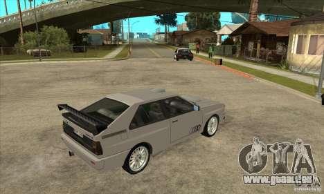 Audi Quattro für GTA San Andreas Innenansicht