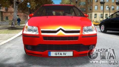 Citroen C4 für GTA 4 Innenansicht