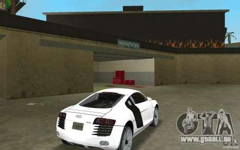 Audi R8 Le Mans pour une vue GTA Vice City de la droite