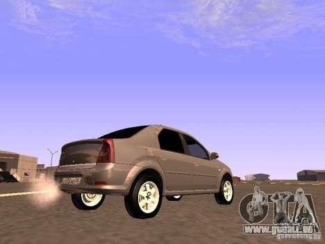 Renault Logan pour GTA San Andreas sur la vue arrière gauche
