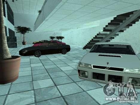 Plus de voitures au salon automobile de Doughert pour GTA San Andreas deuxième écran