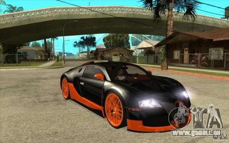 Bugatti Veyron Super Sport 2011 für GTA San Andreas Rückansicht