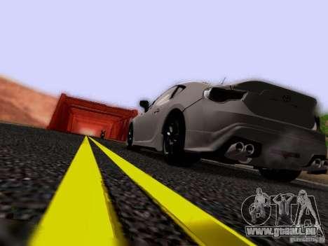 Toyota 86 TRDPerformanceLine 2012 pour GTA San Andreas vue de dessous