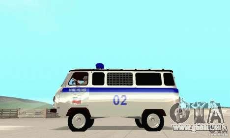 UAZ Police pour GTA San Andreas vue arrière