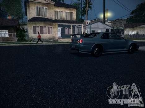Nissan Skyline Z-Tune pour GTA San Andreas vue intérieure