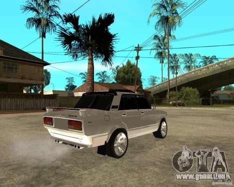 VAZ 2107 Light Tuning v2.0 pour GTA San Andreas sur la vue arrière gauche