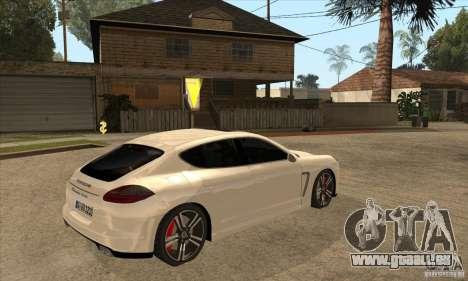 Porsche Panamera Turbo für GTA San Andreas rechten Ansicht