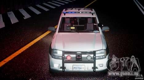 Chevrolet Trailblazer Police V1.5PD [ELS] pour GTA 4 est une vue de dessous