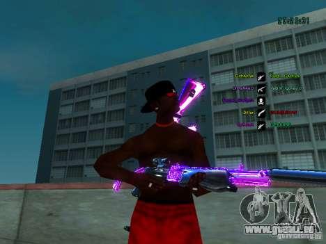 Purple chrome sur armes pour GTA San Andreas troisième écran