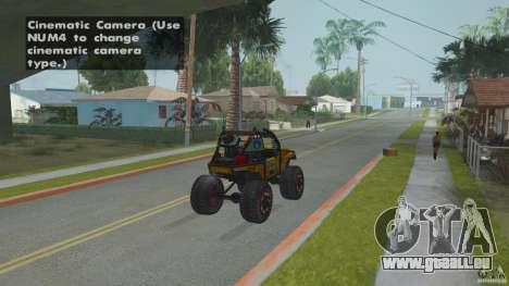 Jeep CJ-7 4X4 pour GTA San Andreas sur la vue arrière gauche