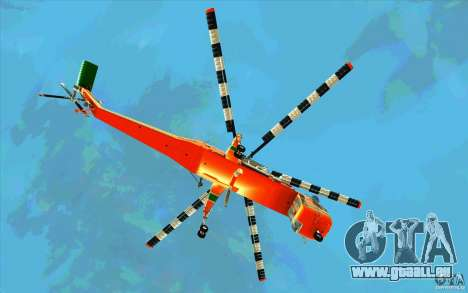 Sikorsky Air-Crane S-64E pour GTA San Andreas vue arrière
