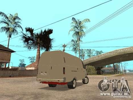 Gazelle 2705 für GTA San Andreas zurück linke Ansicht