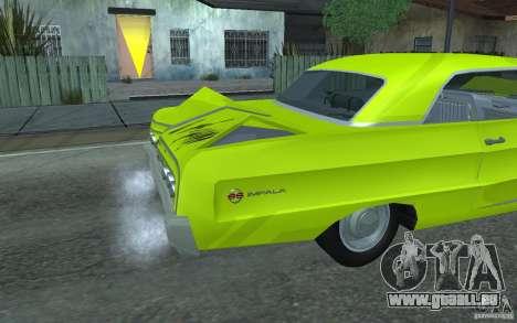 Chevrolet Impala SS 1964 pour GTA San Andreas vue intérieure