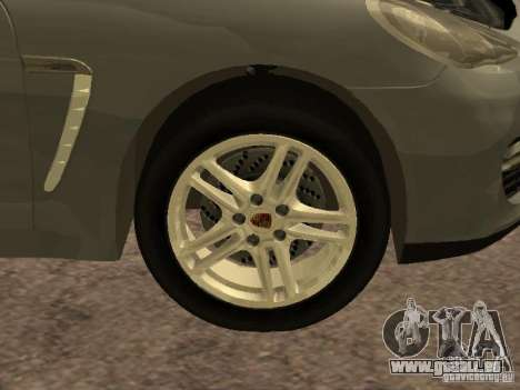 Porsche Panamera Turbo 2010 pour GTA San Andreas vue intérieure