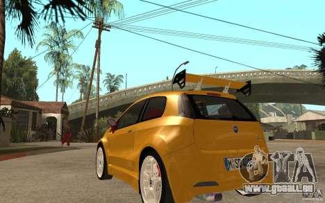 Fiat Grande Punto Tuning pour GTA San Andreas sur la vue arrière gauche