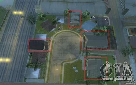 Quatre maisons neuves Grove Street pour GTA San Andreas cinquième écran