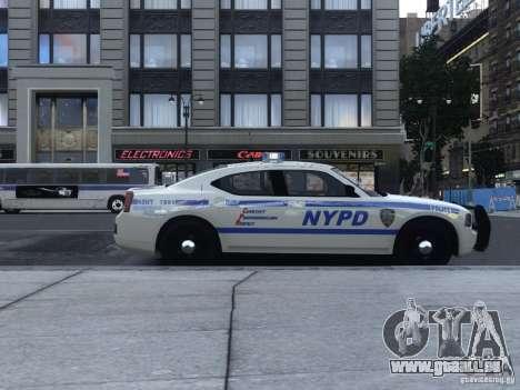 Dodge Charger NYPD für GTA 4 hinten links Ansicht