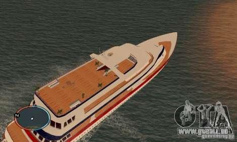 Korteza yacht de Vice City pour GTA San Andreas sur la vue arrière gauche