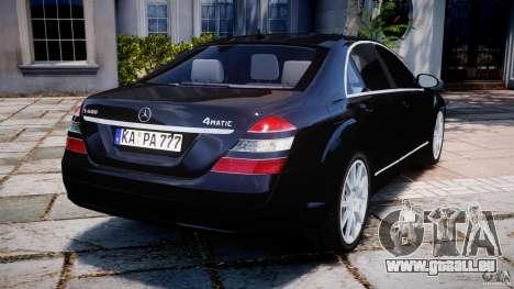 Mercedes-Benz S600 w221 für GTA 4 hinten links Ansicht
