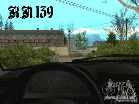 Gaz 3110 béta 0.1 pour GTA San Andreas sur la vue arrière gauche