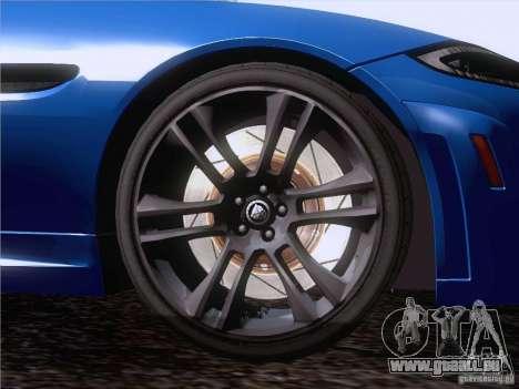Jaguar XKR-S 2011 V2.0 für GTA San Andreas obere Ansicht