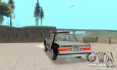 Dodge Diplomat 1985 Police pour GTA San Andreas laissé vue