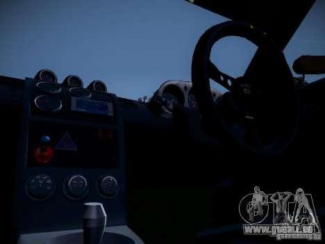 Nissan 370Z Chris Forsberg für GTA San Andreas Rückansicht